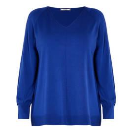 ELENA MIRO SWEATER ROYAL BLUE - Plus Size Collection