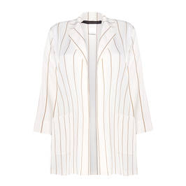 MARINA RINALDI LONGLINE STRIPE JACKET CACHA - Plus Size Collection