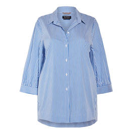 VERPASS CANDY STRIPE SHIRT BLUE - Plus Size Collection