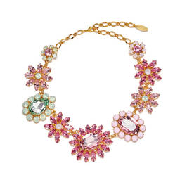FLORAL SWAROVSKI CRYSTAL NECKLACE - Plus Size Collection
