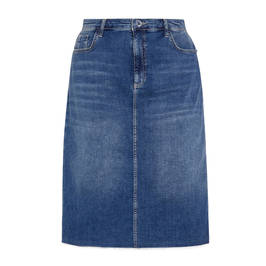 ELENA MIRO STRETCH DENIM SKIRT - Plus Size Collection