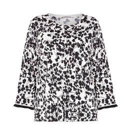ELENA MIRO FLORAL SWEATER BLACK - Plus Size Collection