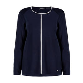 VERPASS KNITTED TUNIC NAVY - Plus Size Collection