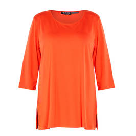 VERPASS STRETCH JERSEY TUNIC CORAL - Plus Size Collection