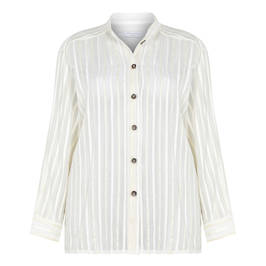 PIAZZA DELLA SCALA COTTON SILK SHIRT WITH OPTIONAL BELT - Plus Size Collection