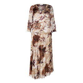 KIRSTEN KROG DRESS CAPPUCCINO - Plus Size Collection