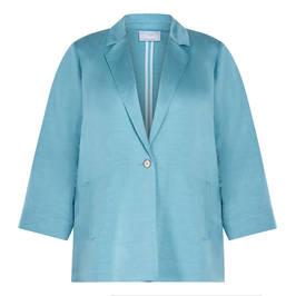 MARINA RINALDI FLAX BLEND JACKET BLUE - Plus Size Collection