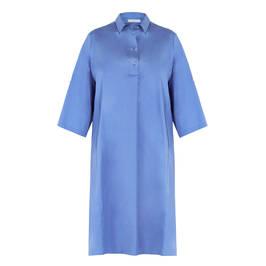 LUISA VIOLA COTTON DRESS BLUE - Plus Size Collection