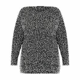 MARINA RINALDI BOUCLE JUMPER BLACK - Plus Size Collection