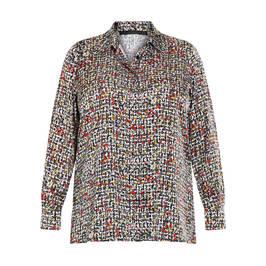 MARINA RINALDI SATIN SHIRT MULTICOLOUR - Plus Size Collection
