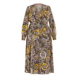 MARINA RINALDI PRINTED CREPE DRESS - Plus Size Collection