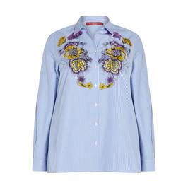 MARINA RINALDI PRINTED COTTON SHIRT - Plus Size Collection