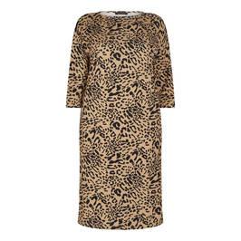 MARINA RINALDI ANIMAL PRINT JERSEY DRESS - Plus Size Collection