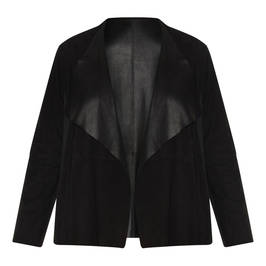 MARINA RINALDI SUEDE JACKET BLACK - Plus Size Collection