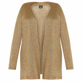 PERSONA BY MARINA RINALDI MOHAIR CARDIGAN GOLD - Plus Size Collection
