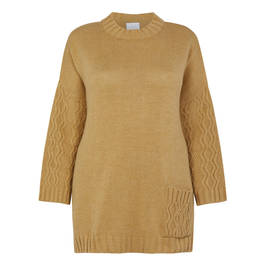 YOEK CABLE KNIT TUNIC  - Plus Size Collection