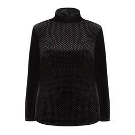 MARINA RINALDI VELOUR TUNIC BLACK - Plus Size Collection