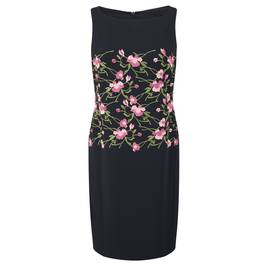 MARINA RINALDI FLORAL EMBROIDERED DRESS (WITH OPTIONAL SLEEVES) - Plus Size Collection