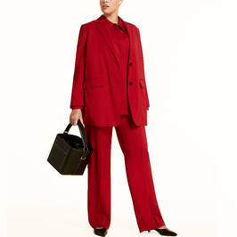 MARINA RINALDI VIRGIN WOOL JACKET RED - Plus Size Collection