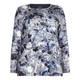 BEIGE label blue floral print jersey TOP