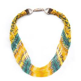 VANITY jade AND YELLOW MULTISTRAND NECKLACE - Plus Size Collection