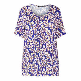 VERPASS STRETCH JERSEY PRINT TOP  - Plus Size Collection