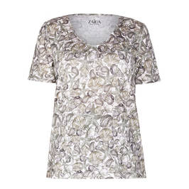 ZAIDA SEASHELL PRINT T-SHIRT SAND - Plus Size Collection