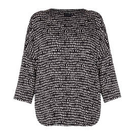 QNEEL JERSEY TUNIC PRINT BLACK - Plus Size Collection
