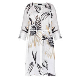 QNEEL LONG SHIRT WHITE  - Plus Size Collection