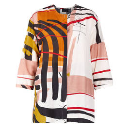 QNEEL ABSTRACT PRINT SHIRT  - Plus Size Collection