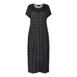 QNEEL JERSEY MAXI DRESS BLACK  - Plus Size Collection