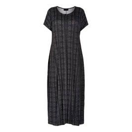 QNEEL JERSEY MAXI DRESS BLACK  - Plus Size Collection