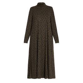 ALEMBIKA ANIMAL PRINT DRESS MOSS - Plus Size Collection