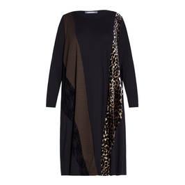 ALEMBIKA PANEL DRESS BROWN - Plus Size Collection