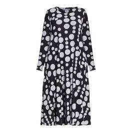 ALEMBIKA SPOT PRINT DRESS BLACK - Plus Size Collection