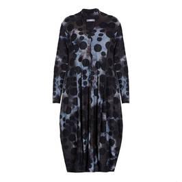 ALEMBIKA SPOT PRINT V-NECK DRESS SMOKE - Plus Size Collection