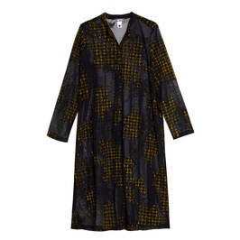 ALEMBIKA LONG JACKET YELLOW AND BLACK - Plus Size Collection