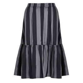 ALEMBIKA BLACK AND SILVER SKIRT - Plus Size Collection
