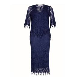 ANN BALON MARINE BLUE LACE ENSEMBLE - Plus Size Collection