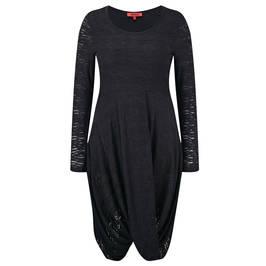 BEIGE TEXTURED BURNOUT SOFT DRAPE DRESS - Plus Size Collection