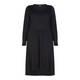 BEIGE LABEL BLACK MIDI LENGTH JERSEY DRESS WITH DIPPED HEM