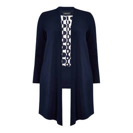 BEIGE LABEL TOP AND CARDIGAN TWINSET NAVY - Plus Size Collection