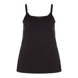 BEIGE CAMISOLE SPAGHETTI STRAP BLACK - Plus Size Collection
