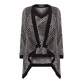 BEIGE LABEL CARDIGAN AND VEST BLACK AND WHITE - Plus Size Collection