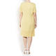 BEIGE LABEL LINEN DRESS WITH BRODERIE ANGLAIS BORDER YELLOW