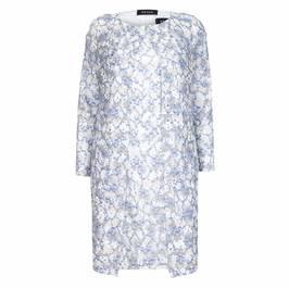 Beige Sky Blue Lace Dress & Coat - Plus Size Collection