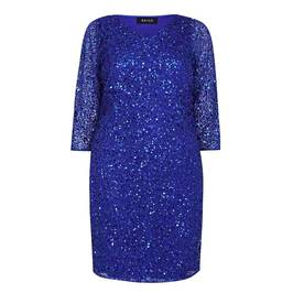 BEIGE SEQUIN DRESS BLUE - Plus Size Collection