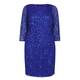 BEIGE SEQUIN DRESS BLUE