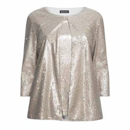 BEIGE SEQUIN TWINSET SILVER - Plus Size Collection