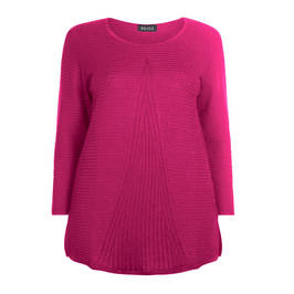 BEIGE CERISE ROUND NECK KNITTED TUNIC - Plus Size Collection